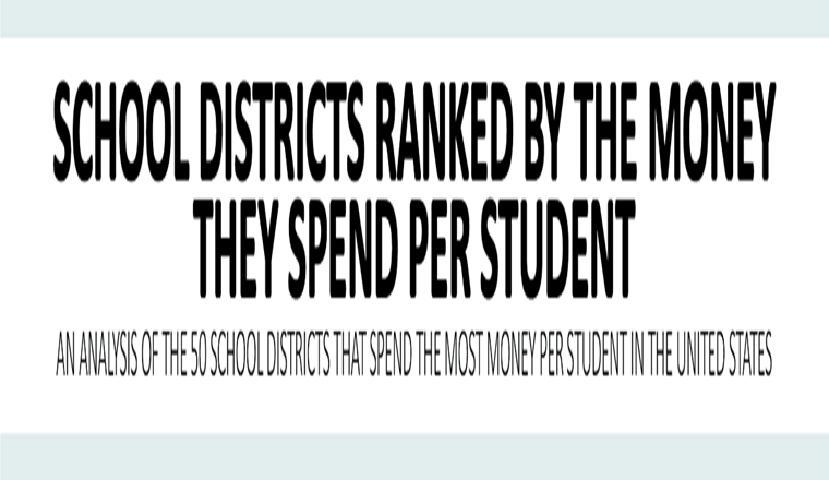 School Districts Ranked by the Money They Spend Per Student #infographic