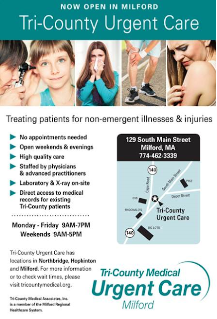 Tri-County Urgent Care - Now Open in Milford!