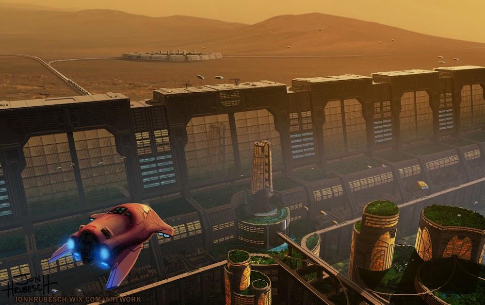Martian city wall by Jon Hrubesch