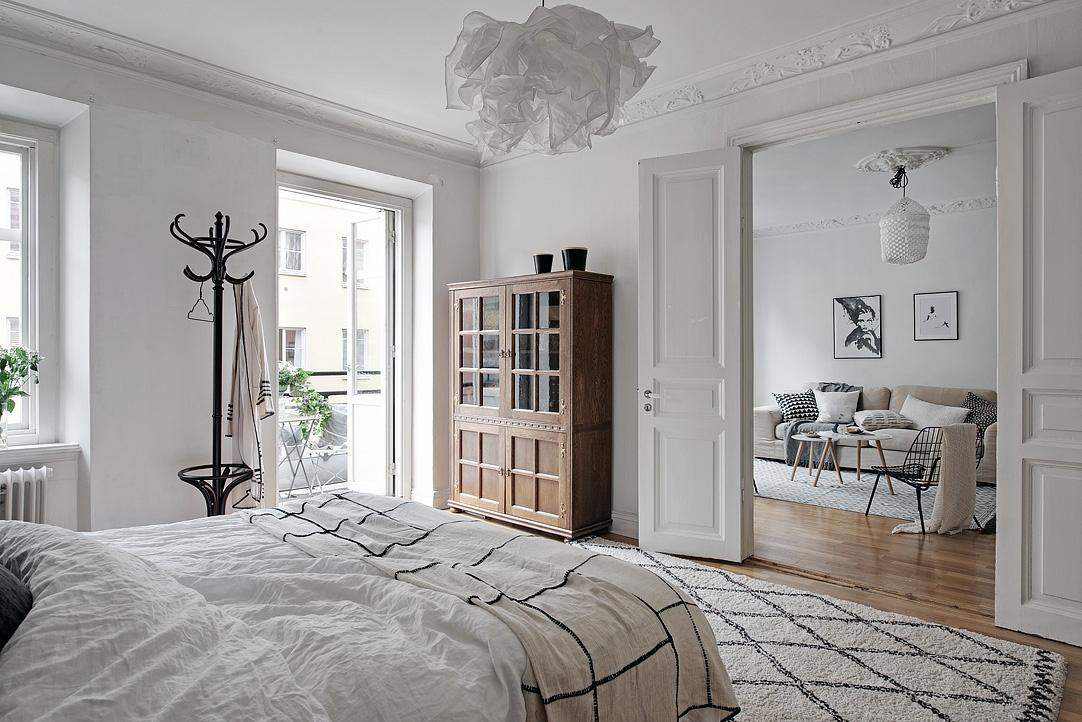 Subtile accente geometrice într-un apartament de 71 m²