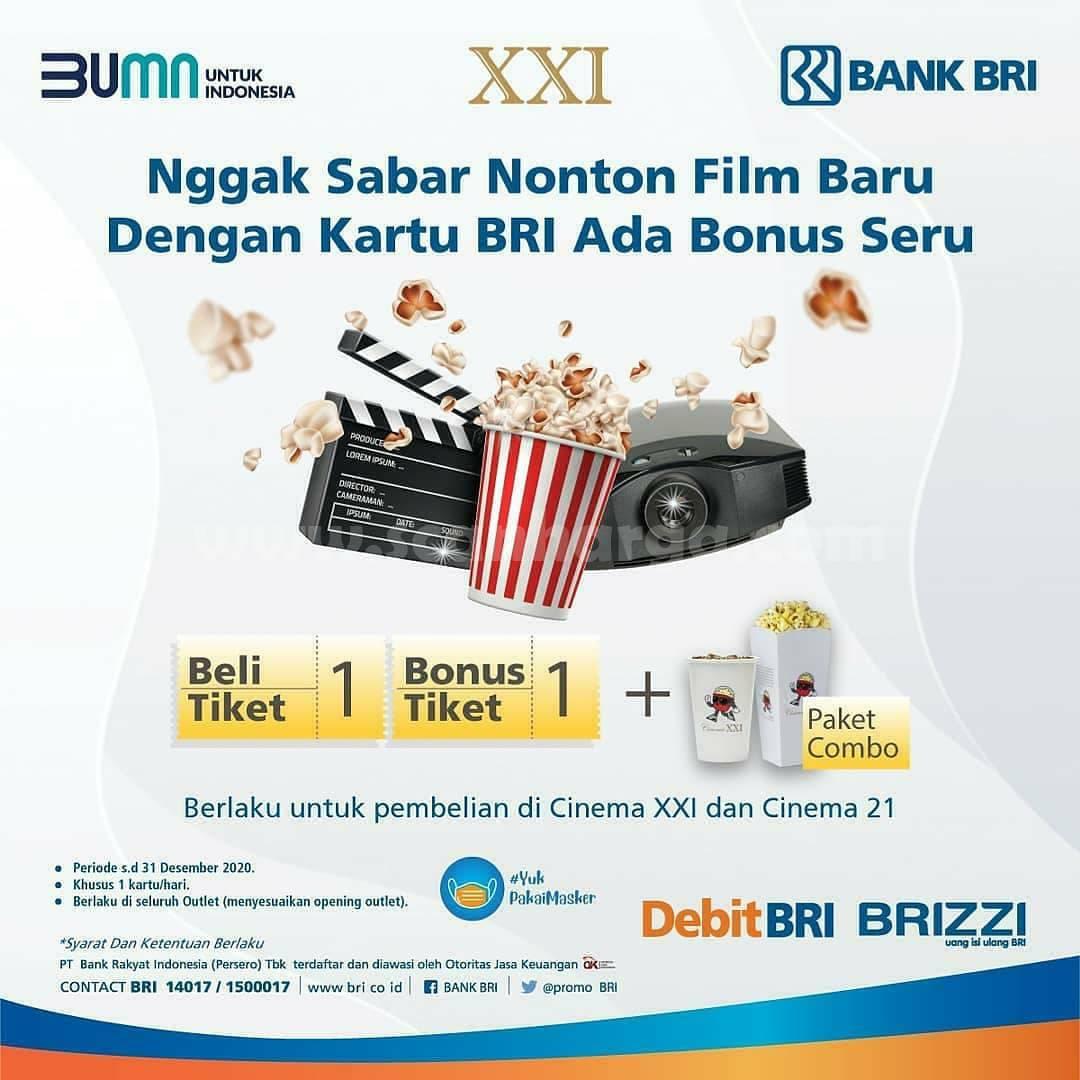 Promo Cinema XXI Beli 1 Gratis 1 Tiket dengan Kartu Kredit BRI