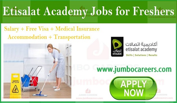 Etisalat Academy Jobs for Freshers | Helper Jobs in Dubai