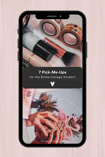 7 pick me ups for the broke college student round up post pinterest pin
