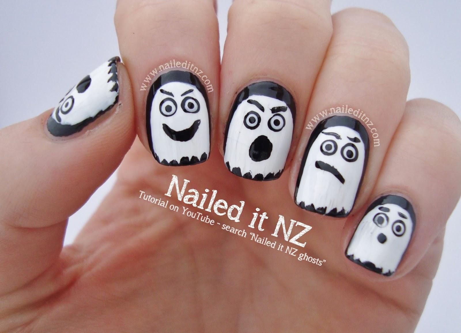 Halloween Ghosts - Nail Art Tutorial