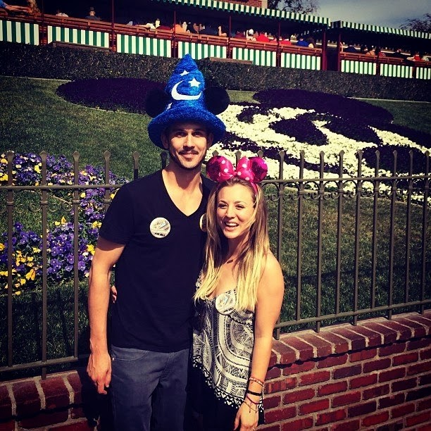 Kaley Cuoco spends honeymoon at Disneyland
