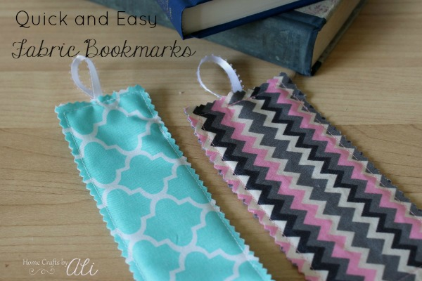 Quick and Easy Sewn Fabric Bookmarks