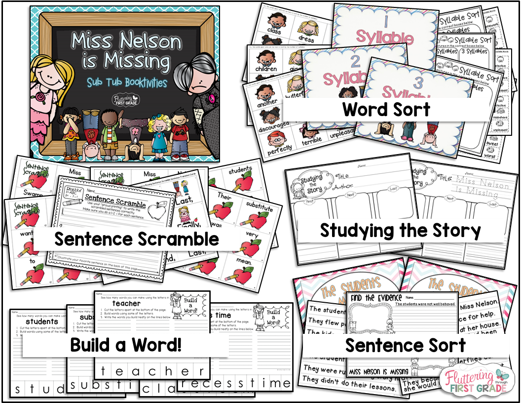 Sub Plans Made Easy | Fluttering Through First Grade
