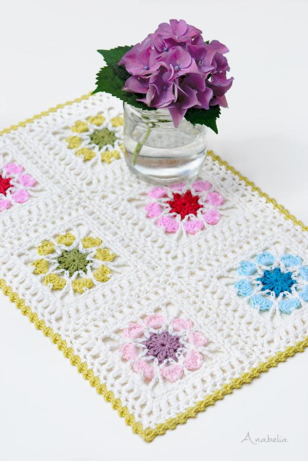 Crochet Flower Tablecloth, Anabelia Craft Design