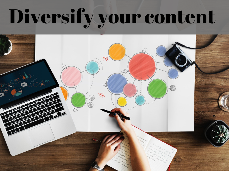 Diversify your content.