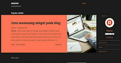 Cara Mengganti dan Memasang Template Blogger
