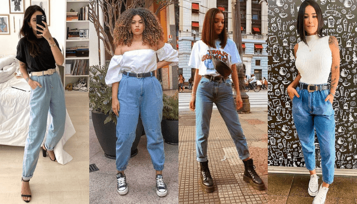 Look com Mom Jeans