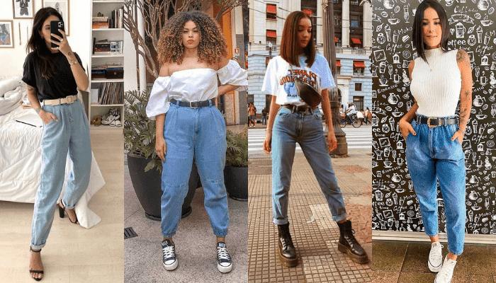 Look com Mom Jeans