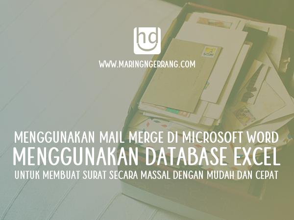 Menggunakan Mail Merge di Word dengan Database Excel