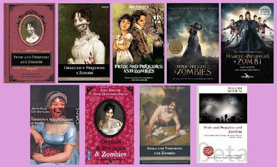Portadas del libro Orgullo y prejuicio y zombies