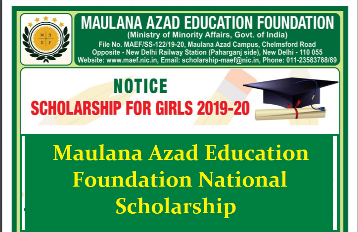 Maulana Azad Education Foundation National Scholarship స్కాలర్‌షిప్‌ మౌలానా ఆజాద్‌ ఎడ్యుకేషన్‌ ఫౌండేషన్‌/2019/07/maulana-azad-education-foundation-national-scholarship-apply-online-maef.nic.in.html