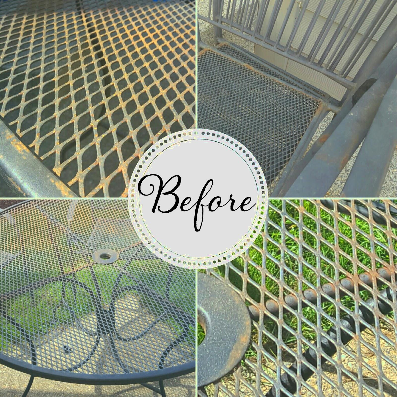 to refinish wrought iron patio furniture