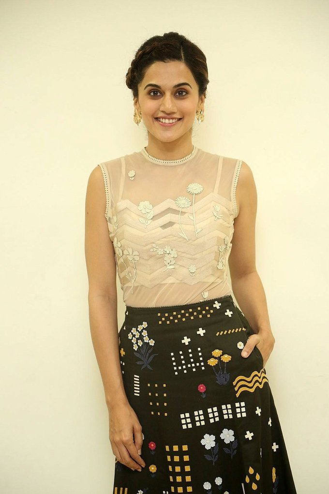 Taapsee Pannu at Anando Brahma Trailer Launch Stills