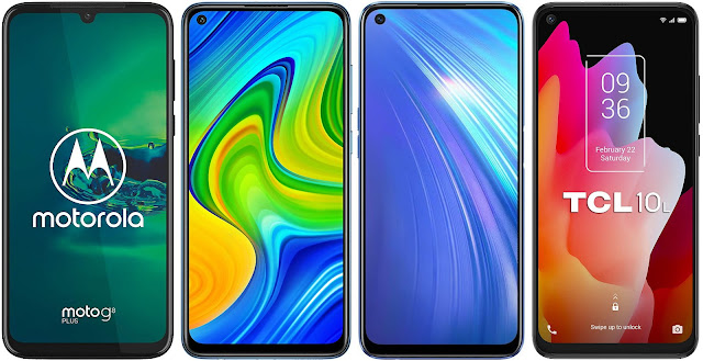 Motorola Moto G8 Plus vs Redmi Note 9 vs Realme 6 vs TCL 10L