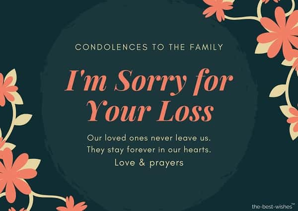 condolence messages loss of father