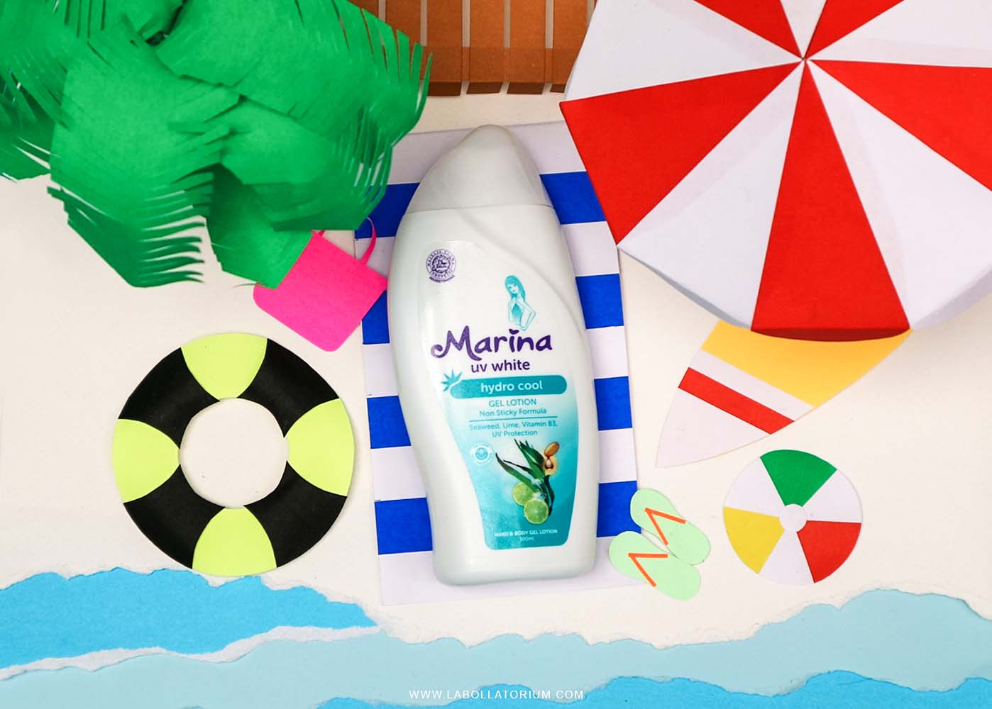 Marina UV White Hydro Cool Gel Lotion - Bye Kulit Kering!