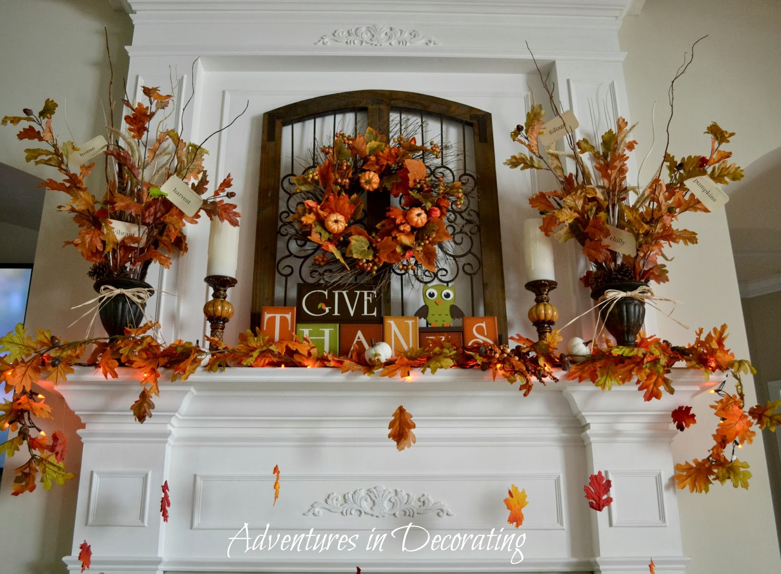 Adventures In Decorating Our Fall Kitchen: Adventures In Decorating: Our Fall Mantel