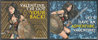Front of irst two Wonder Woman Valentines