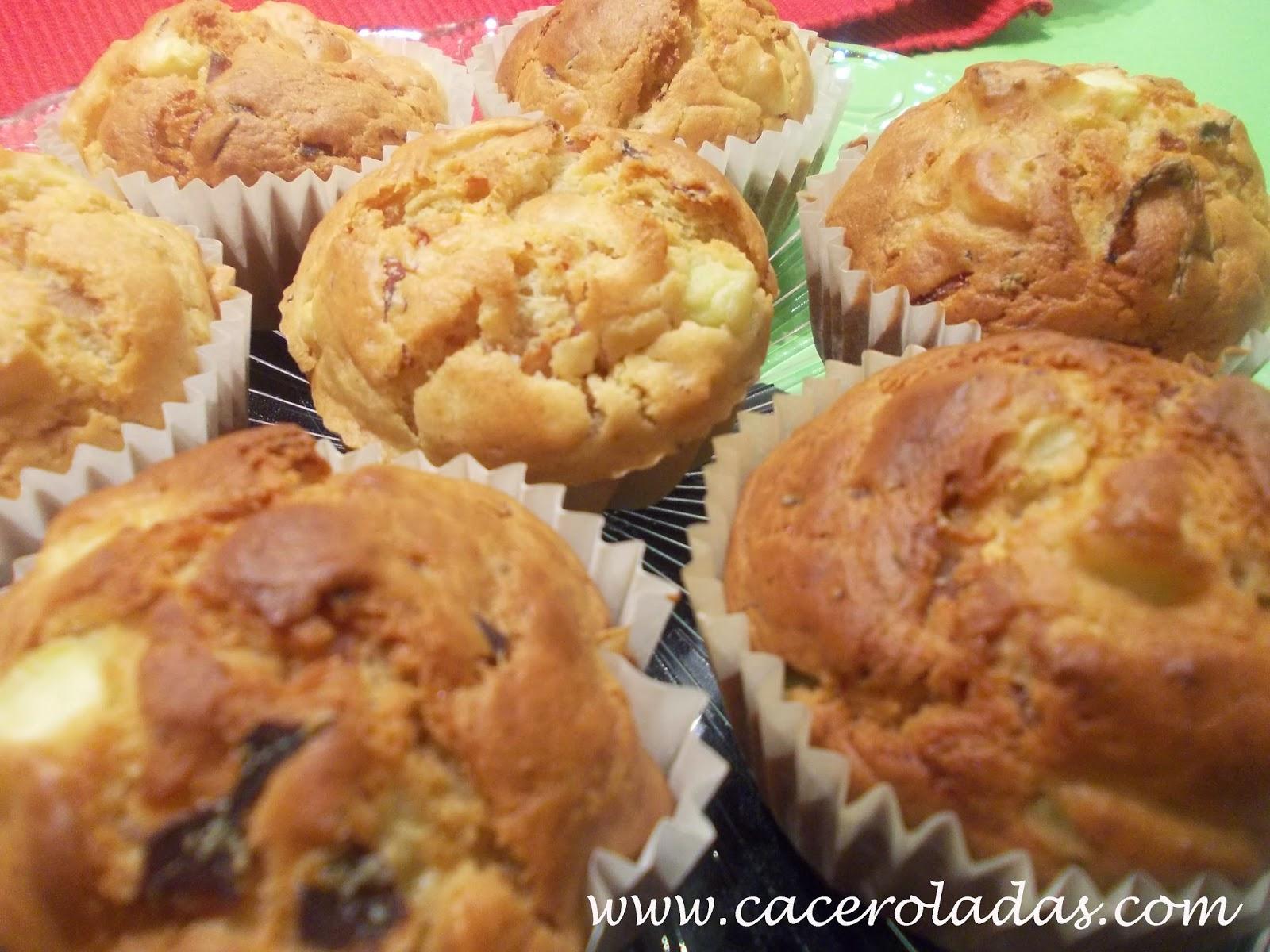 Muffins salados de calabacín, bacon y queso