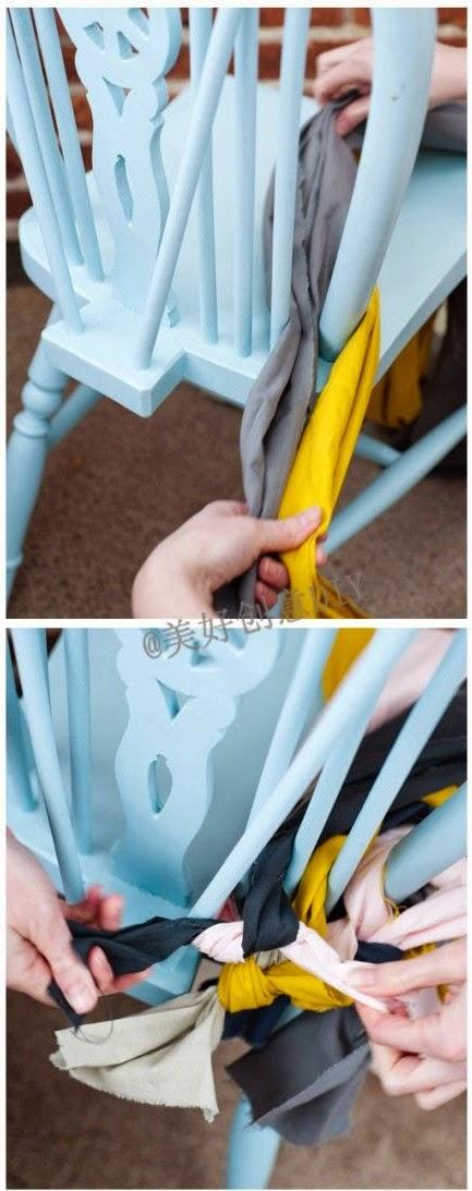Asiento de silla trenzado Paso 2