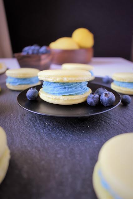 Lemon Blueberry Vegan French Macarons Recipe
