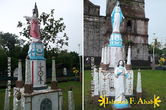 Icons of Jesus and Mary in Vinzons Church in Vinzons, Camarines Norte