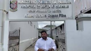 Renato protocola denúncia no MP contra Prefeitura de Guarabira