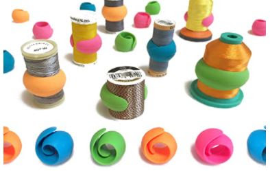 colorful thread spool holders