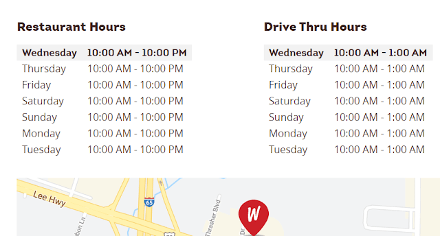 Wendys Hours of Operations