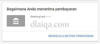 kotak informasi metode pembayaran