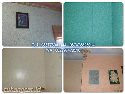 Cat wash paint motif wallpapper