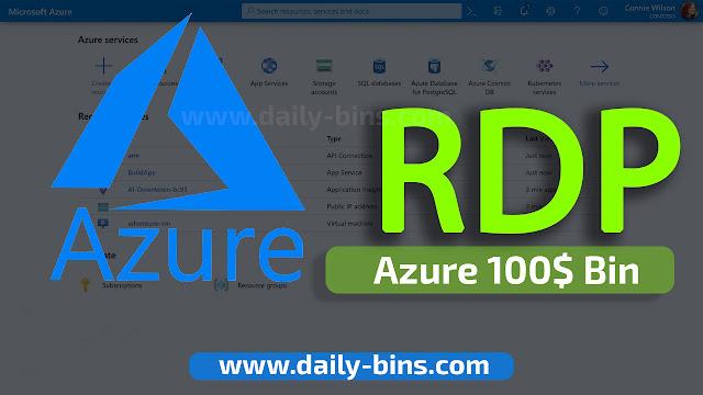كيفية الحصول على RDP مايكروسوفت بطريقة جديدة 2022 | Azure 100$ Bin