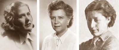 Las ajedrecistas Glòria Velat, Sofía Ruíz y Montserrat Puigcercós