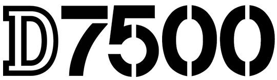 Логотип модели Nikon D7500