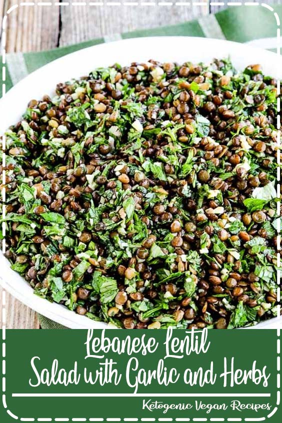 and this Lebanese Lentil Salad with Garlic and Herbs has some of my favorite flavors Lebanese Lentil Salad with Garlic and Herbs