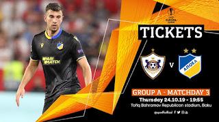 Δωρεάν τα εισιτήρια του αγώνα Qarabağ FK - APOEL FC, UEL