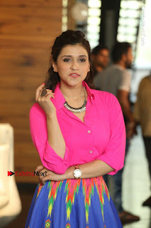 Actress Mannar Chopra in Pink Top and Blue Skirt at Rogue movie Interview  0126.JPG