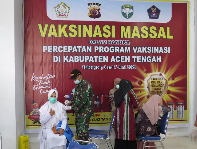 Program Mempercepat Vaksinasi Massal Wilayah Kodim 0106/Ateng