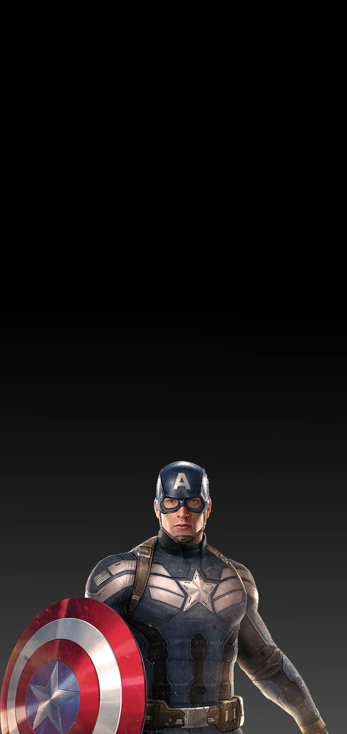 cris evans captain america with shield black wallpaper amoled