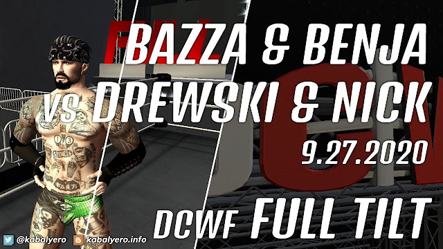 Bazza & Benja vs Drewski & Nick • DCWF FULL TILT (9.27.2020) [Second Life Wrestling]