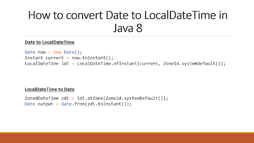 How to convert java.util.Date to java.time.LocalDate in Java 8 - Example