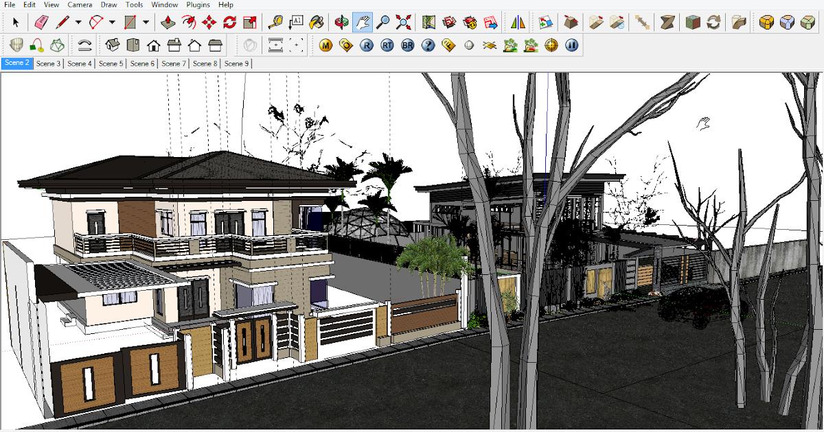 download gambar rumah file sketchup