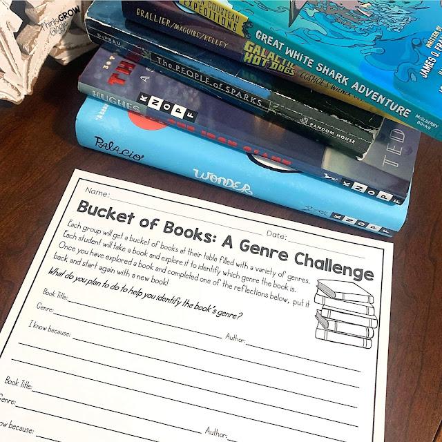 reading genre book challenge lesson