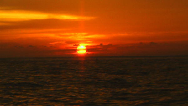 sunset di Pulau Kasiak Putiah
