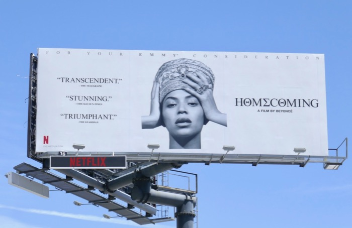 Beyonce Homecoming 2019 Emmy consideration billboard