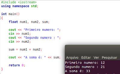 Como somar dois números em C++